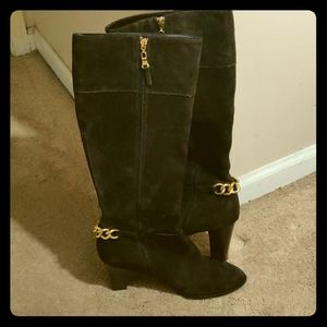 Tahari Suede boots-with one time.